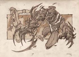 Steampunk Spiderman - Spidey VS Venom  2013