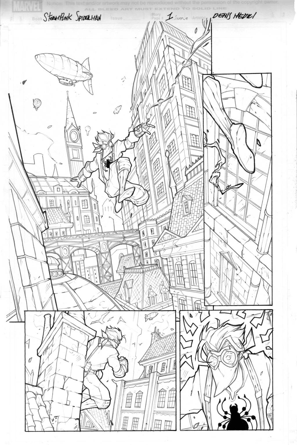 Steampunk Spiderman - Sample page 01 2013 by DenisM79