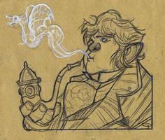The Hobbit - Smoking Bilbo