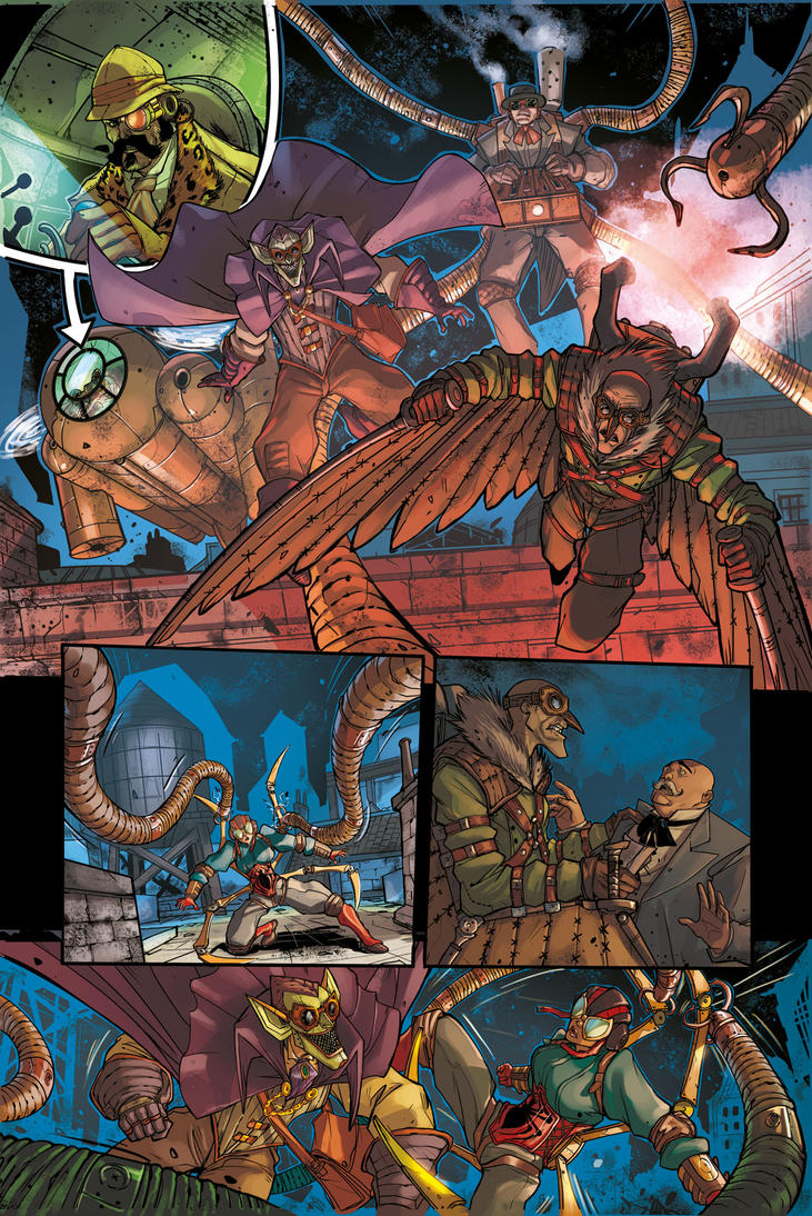 STEAMPUNK LADY SPIDER pg 6 - from Spider-Verse 1 by DenisM79