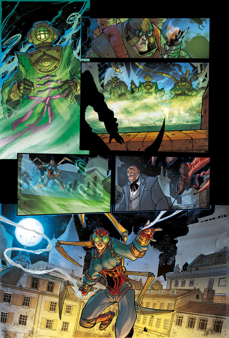 STEAMPUNK LADY SPIDER pg 8 - from Spider-Verse 1 by DenisM79