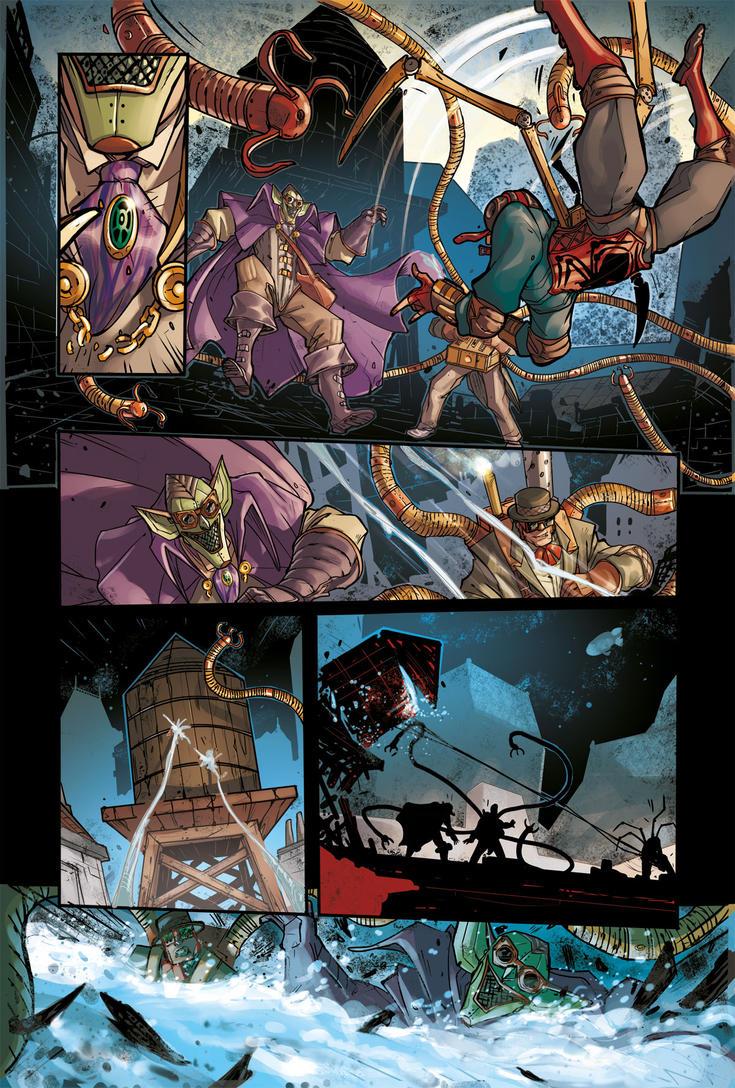 STEAMPUNK LADY SPIDER pg 7 - from Spider-Verse 1 by DenisM79