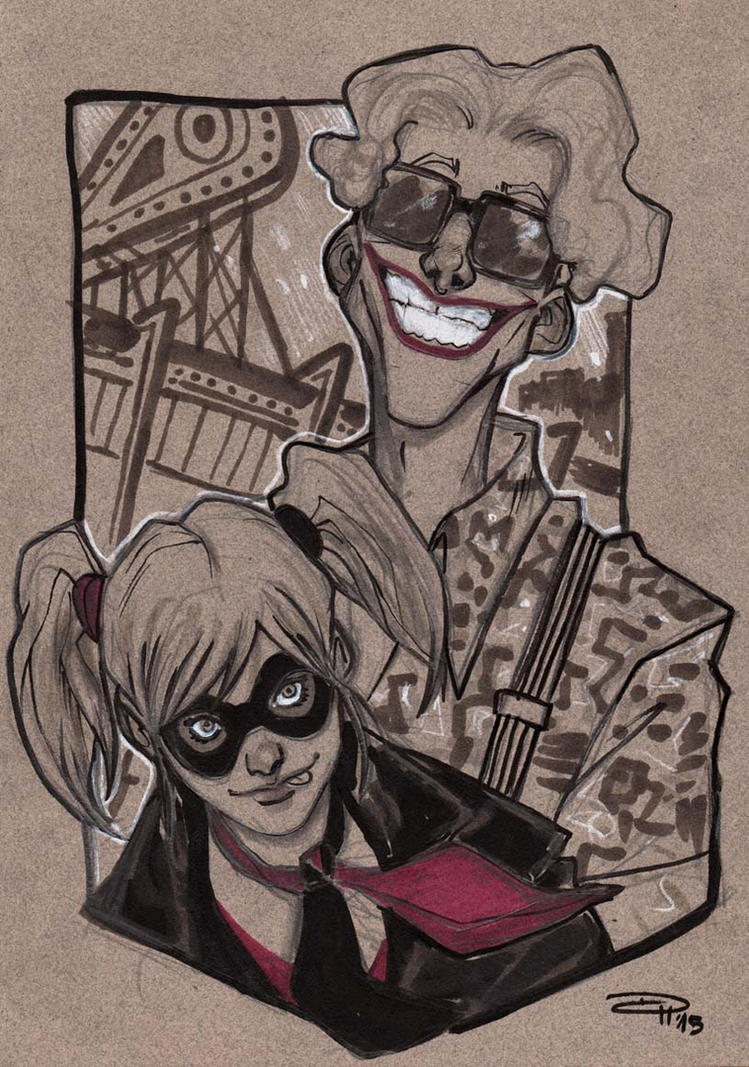 Rockabilly Joker and Harley by DenisM79