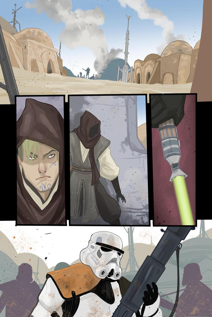 Star Wars - sample page by DenisM79