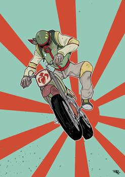 Star Wars 80s High School - Biker Boba Fett