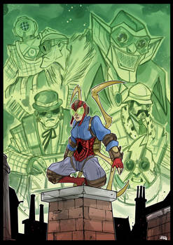 Steampunk Lady Spider and Sinister Six