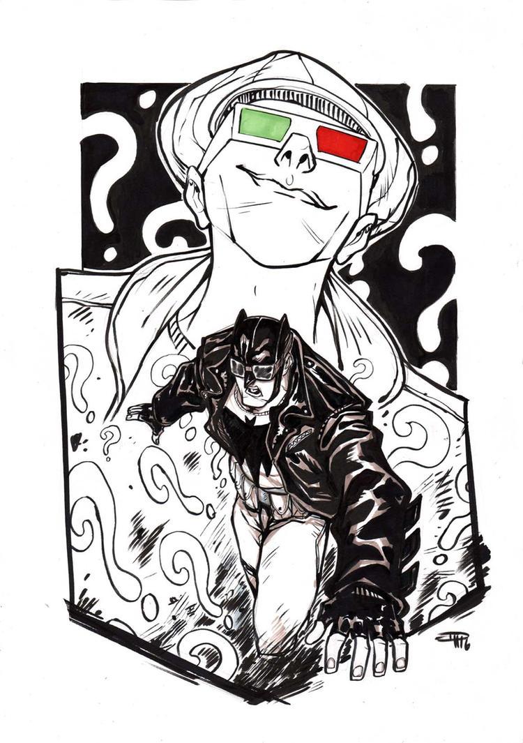Rockabilly Batman VS The Riddler by DenisM79