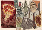Gene Noir - comics project 2015 - Sketches