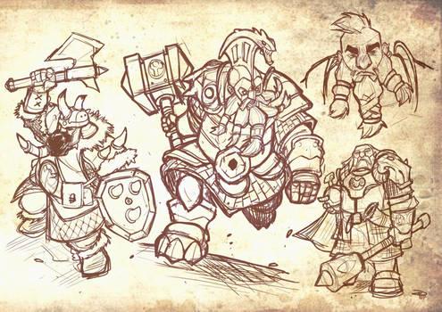Dwarves - sketches