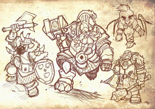 Dwarves - sketches