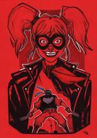 Rockabilly Harley Quinn and Nightwing by DenisM79