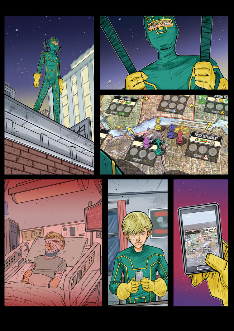 Kick-Ass Board Game - comics preview by DenisM79