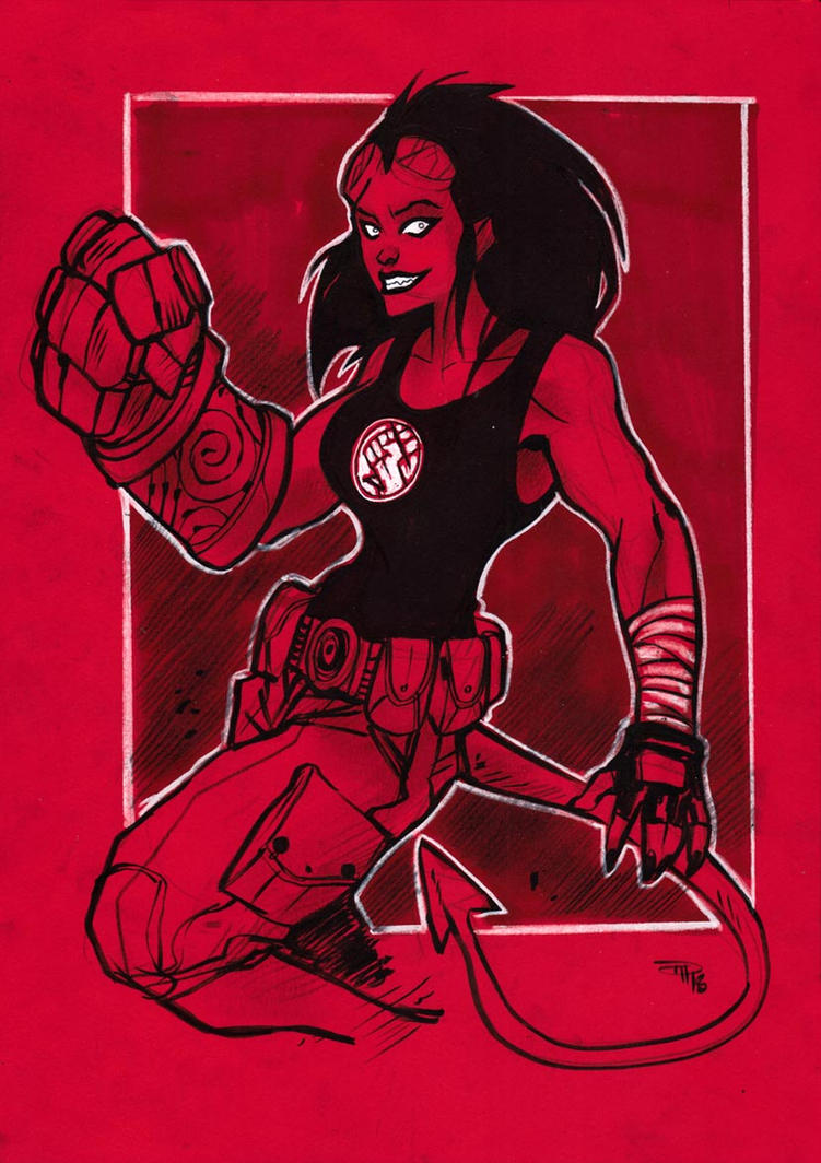 Hellgirl by DenisM79