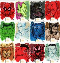 2019 Marvel Flair - Sketch Cards by DenisM79