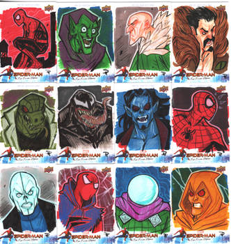 Spiderman Far From Home Sketch Cards 2