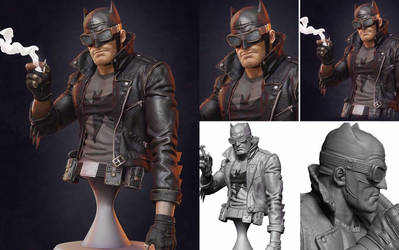 Rockabilly Batman 3D model
