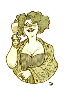 La Sgnora - Albana wine Label