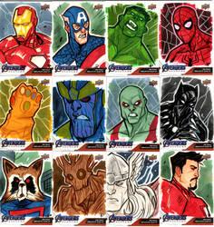 Marvel End Game Sketch Cards