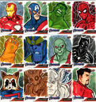 Marvel End Game Sketch Cards