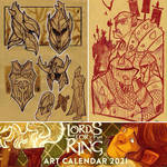 Lords for the Ring - Art Calendar 2021