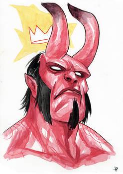 Hellboy - Watercolor
