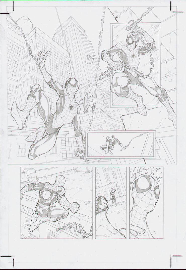 Spiderman test page 1 by DenisM79