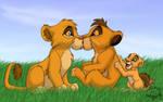 Kopa and Vitani... kiss