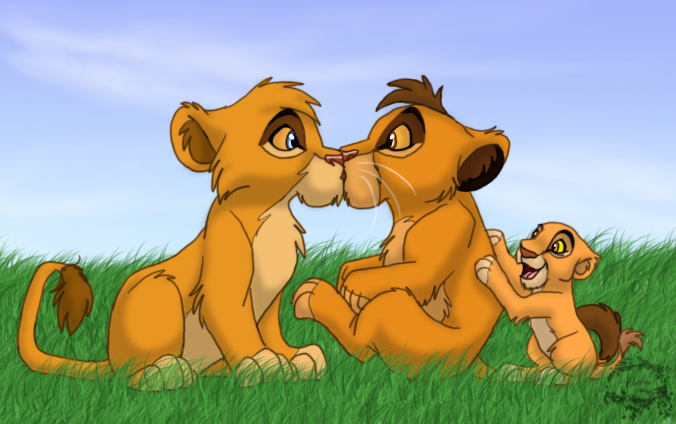 The Lion King,Six New Adventure: Kopa Kopa_and_Vitani____kiss_by_ShebaWild