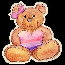 Watercolor Pencil bear by Marimaru