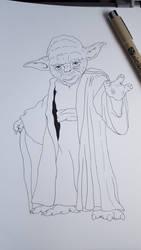 Yoda Line art by Marimaru