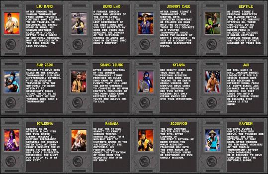 Mortal Kombat II Bios