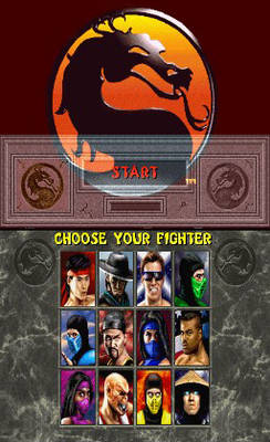 Mortal Kombat II - Main Menu