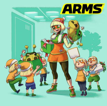 Min Min From ARMS And Super Smash Bros. Ultimate