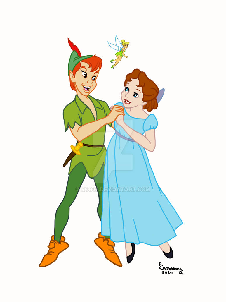 14peter Pan Wendy Y Campanilla By Rob32 On Deviantart
