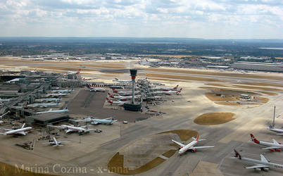 Heathrow Airport overview by x-inna