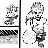 Soccer gal by Veester