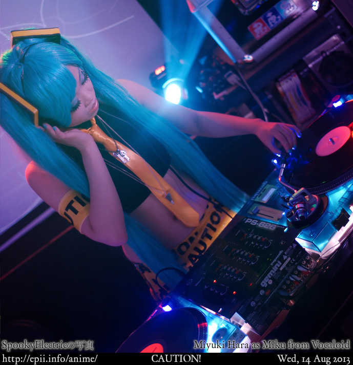 Disc Jockey Miku by spooky-epiic