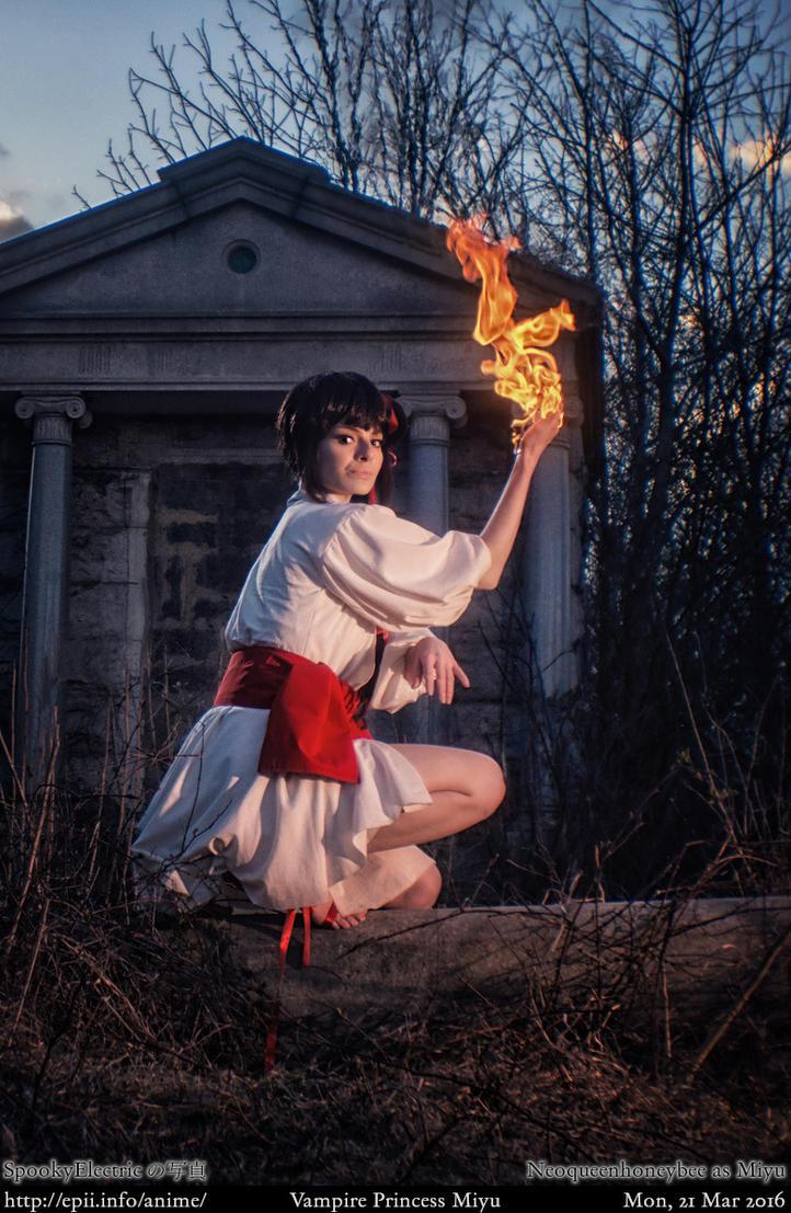 Vampire Princess Miyu Flame Attack by spooky-epiic