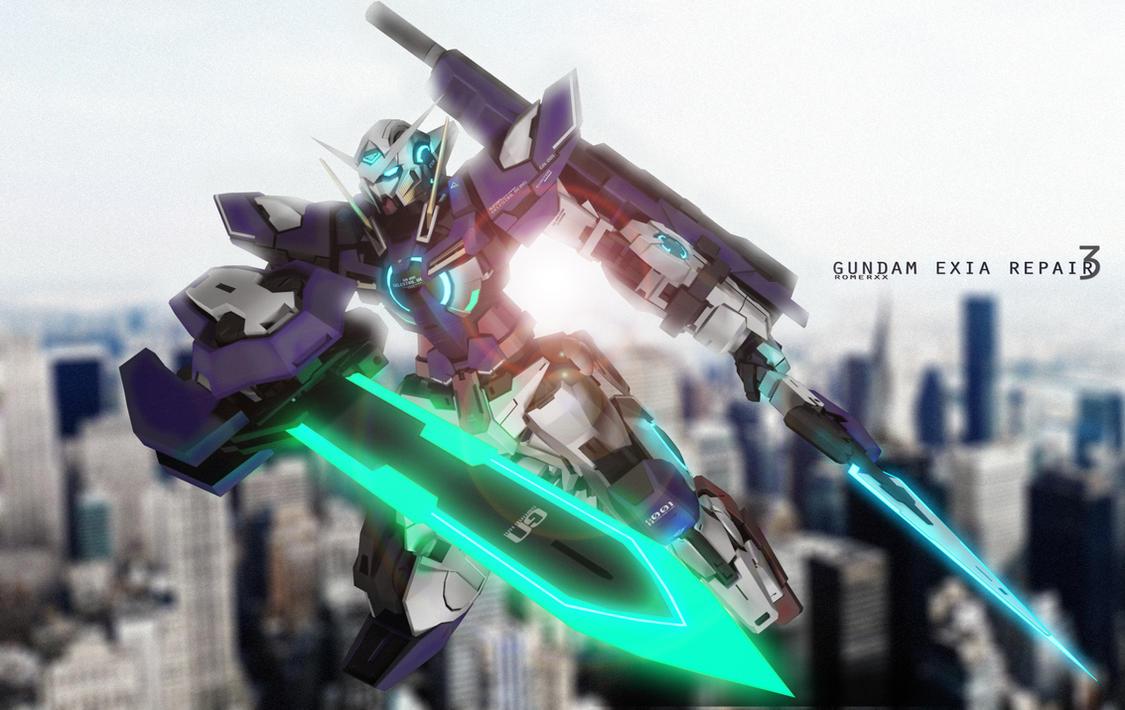 GN-001REIII Gundam Exia Repair III by romerskixx