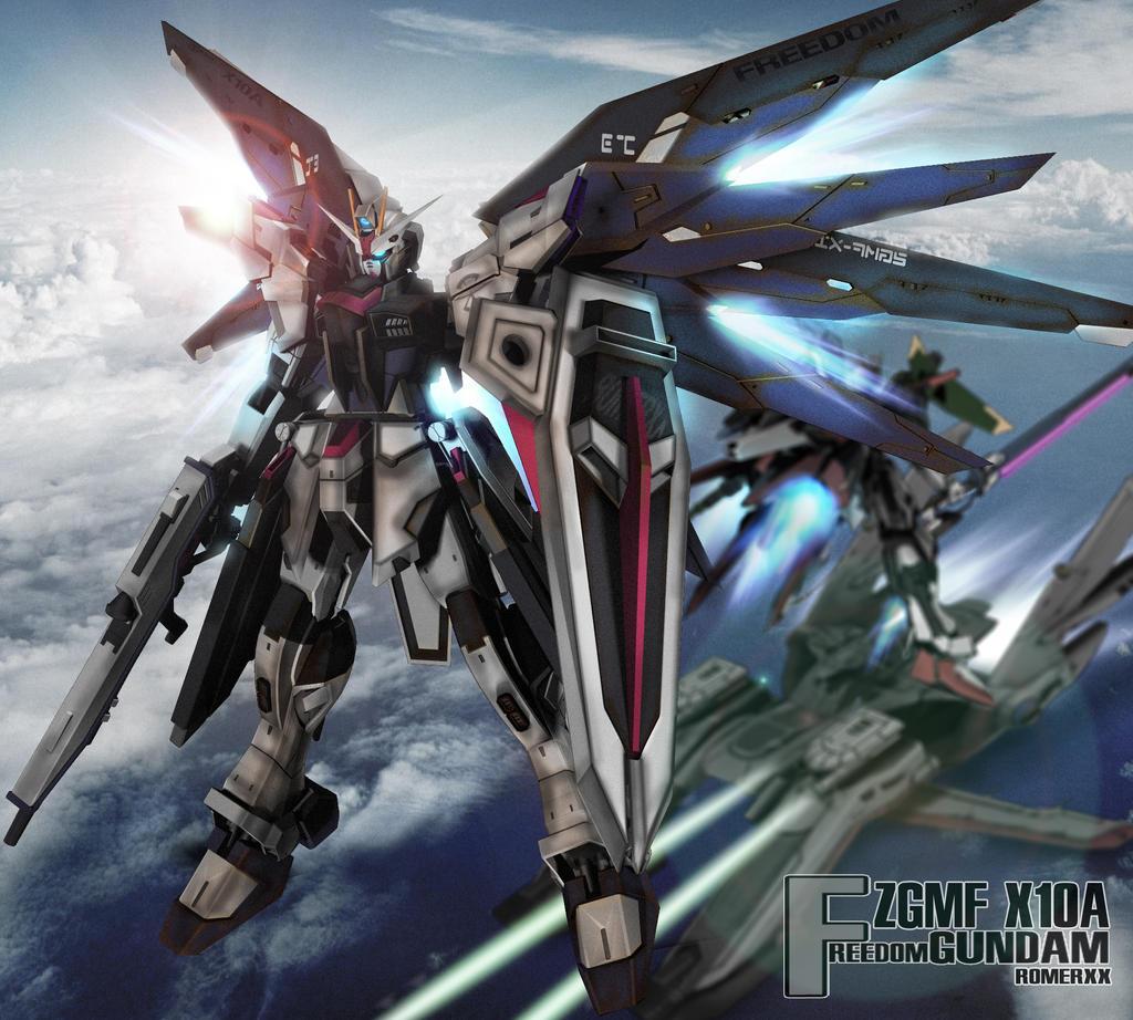 Random Gundam CG database Zgmf_x10a_freedom_gundam_custom_by_romerskixx-d5sxew1