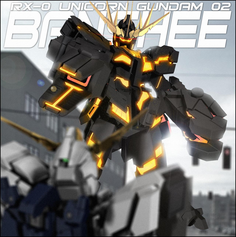 RX-0 UNICORN GUNDAM 02 BANSHEE (DESTROY MODE) by ... Gundam Banshee Wallpaper