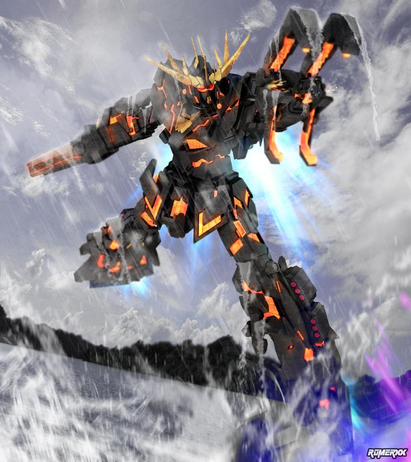 RX-0 UNICORN GUNDAM 02 BANSHEE (revision) by romerskixx on ... Gundam Banshee Wallpaper