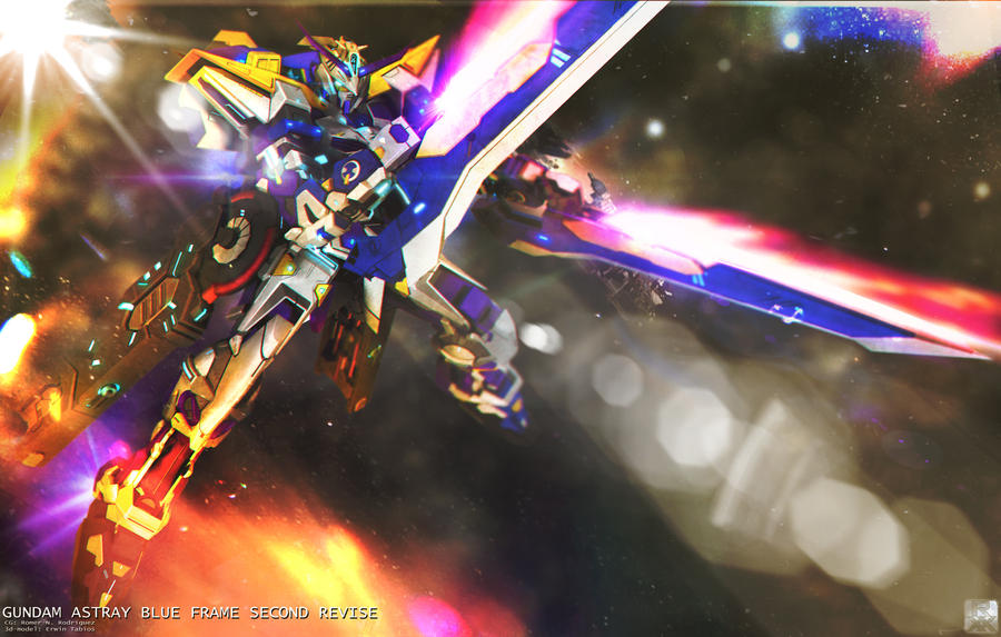 MBF-P03R Gundam Astray Blue Frame 2nd Revise by romerskixx