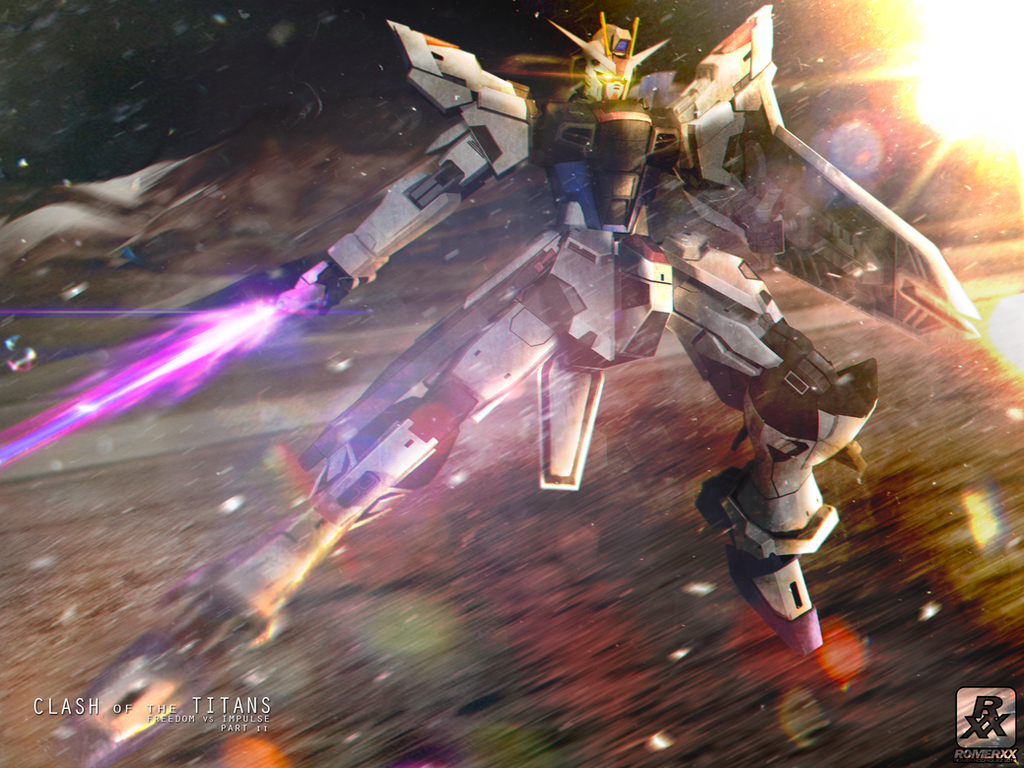CLASH of the TITANS: Freedom Gundam by romerskixx