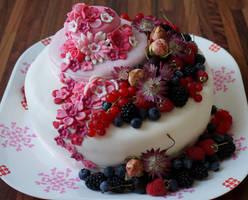 Pink Flowers by ViktoriasCandyCakes