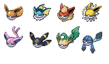 The gallery for --> Shiny Eevee Evolutions Sprites