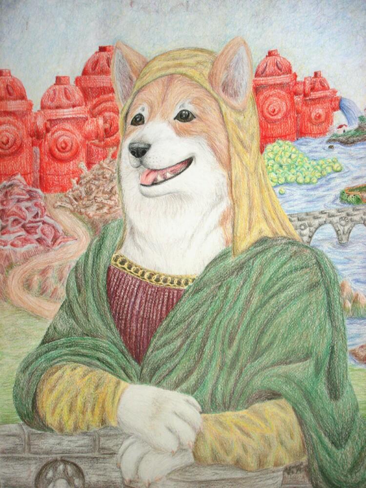 Dog-Gone Mona by Icenado