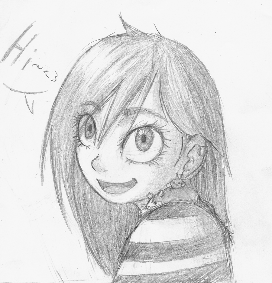 Pencil drawing d by rainbowyrainbow on deviantart for Cute pencil drawings tumblr