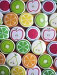 Fruity Button Wall