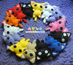 Little Cat Plushies by pookat